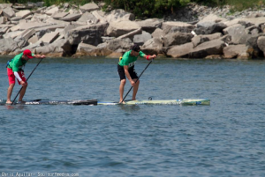 Jimmy Terrell and me at Eastern Canadian SUP Championships 2012
